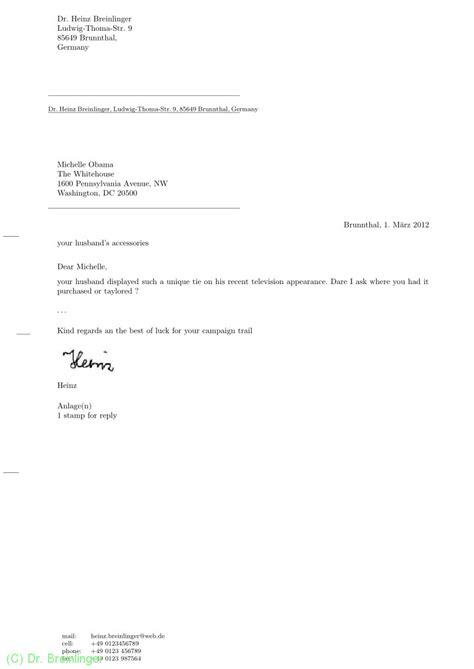 Offizieller Brief Mit Anlagen Dr Breinlinger Din Briefe Mit