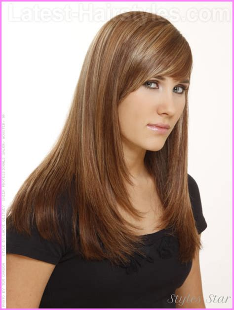 section hair for side part bangs long haircuts with bangs and layers for thin hair