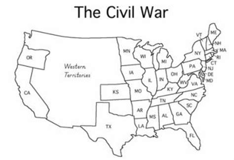 Outline Map And Indian War by Cc3 Hist Wk 11 Color It Civil War Us Map To Teach Cc3 History Civil Wars War