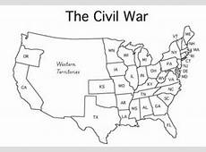 Blank Us Map Pre Civil War