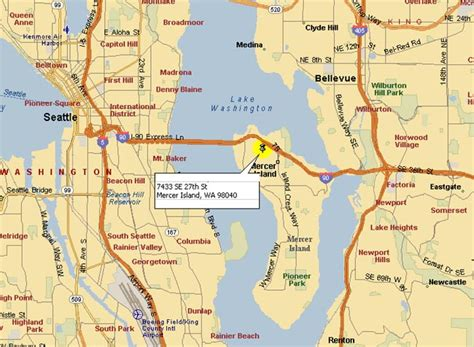 Seattle Location Map Bnhspine by Map Of Seattle Area Bnhspine