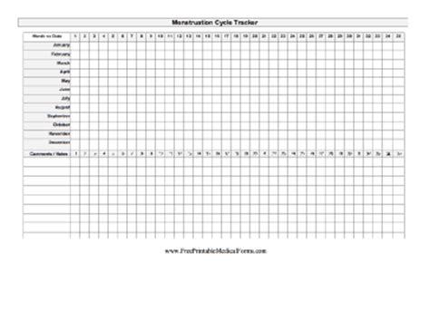 Menstrual Calendar Printable Pdf Printable Menstruation Cycle Tracker