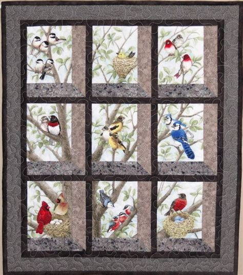 quilt pattern attic window quilted and pieced wall hanging attic window birds in