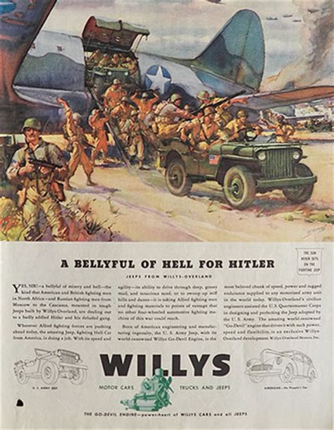 vintage jeep ad 1943 willy jeep ad bellyful of hell for vintage