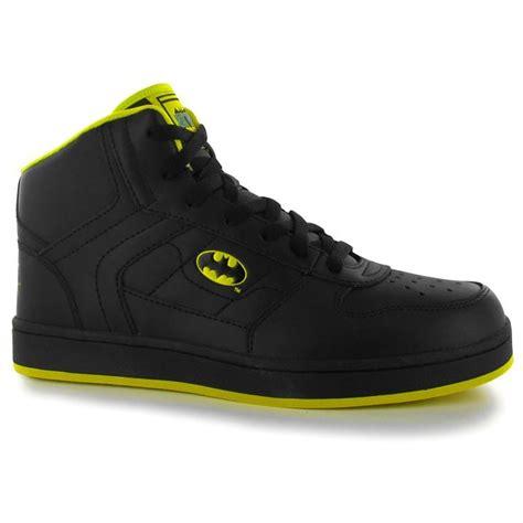 batman mens gents sport trainers shoes high top mid cut