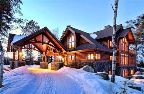 Luxury Cabin by Luxury Log Home On White Iron Lake Lake Home And Cabin
