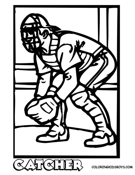 coloring pages to print baseball baseball sports