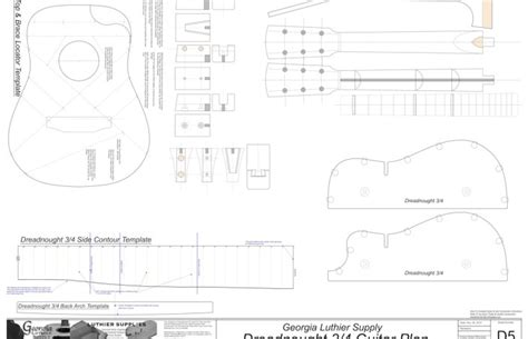 guitar building templates bench plan guitar luthier templates