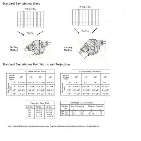 bow window sizes bay window size chart classic windows inc