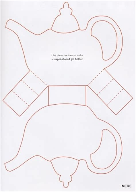 printable teapot card template teapot template tutorials and templates