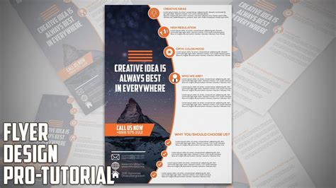 How To Design Professional Business Flyer In Adobe Photoshop Cc Youtube Photoshop Flyer Templates Business
