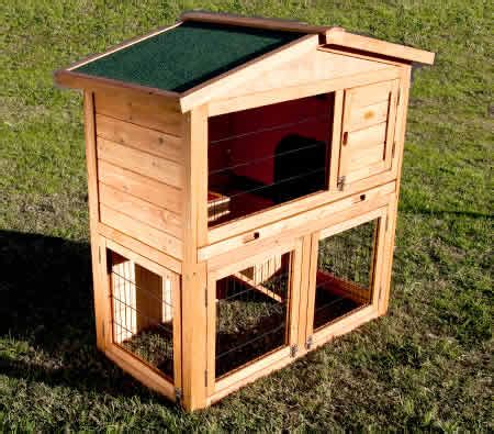 Rabbit Hutches Online Indoor Outdoor Rabbit Guinea Pig Cage Hutch House With