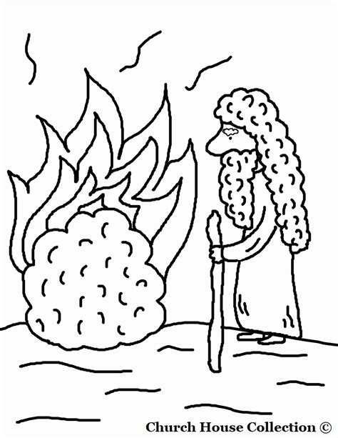 burning house coloring page moses and burning bush coloring page coloring home