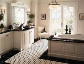Black And White Bathroom Decorating Ideas 23 traditional black and white bathrooms to inspire digsdigs