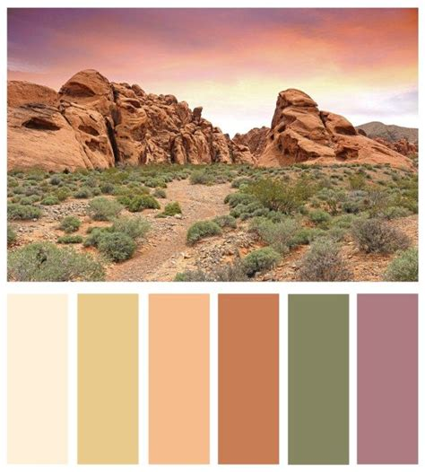 desert colors color board mojave desert and vegas inspired color