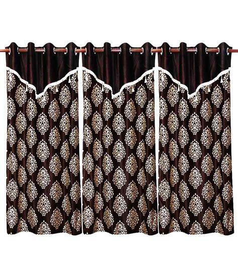 flap curtains paw design curtain with flap brown 3 pcs set 48 x 84