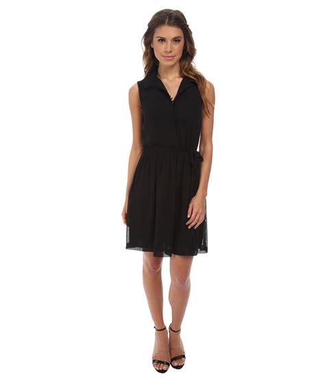 Chiffon Crepe White Dress kensie crepe chiffon dress ks8k9s82 in black lyst
