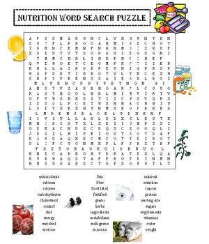 printable word search nutrition nutrition word search puzzle by david filipek teachers