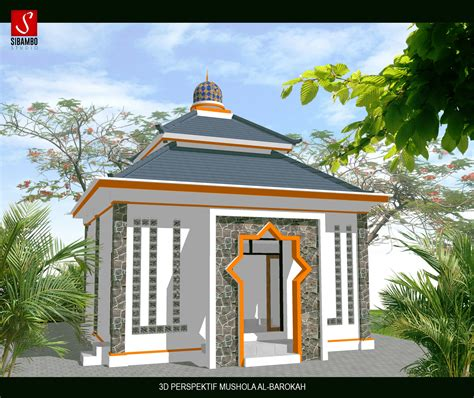 desain bangunan mushola mushola ukuran 7x7 minimalis tradisional cepu jawa