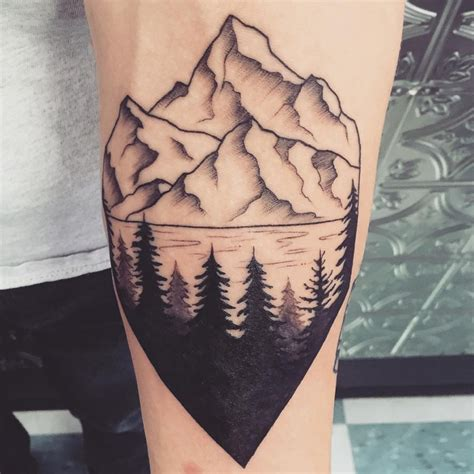 tree and mountain tattoo 21 pine tree designs ideas design trends