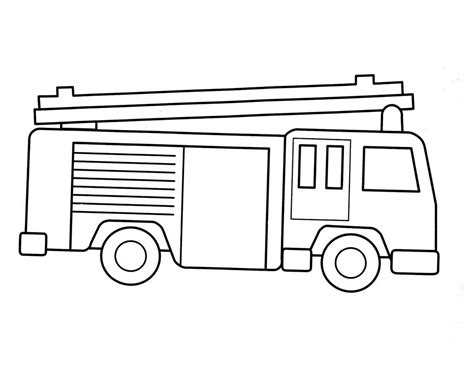 simple fire truck coloring page free printable fire truck coloring pages for kids