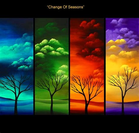 landscape painting four seasons painting 2148