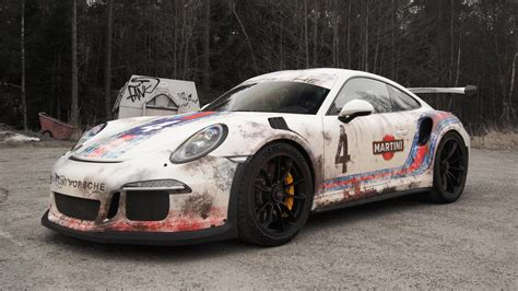 porsche gt3 rs wrap gt3 rs in worn looking car wrap automotive x