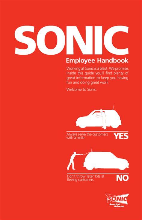 sonic employee handbook cover  behance