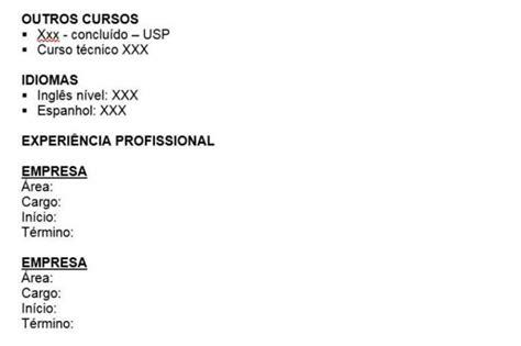 Modelo Curricular Robert Gagné 12 Modelos De Curr 237 Culo Para Baixar E Preencher Exame Neg 243 Cios Economia Tecnologia E