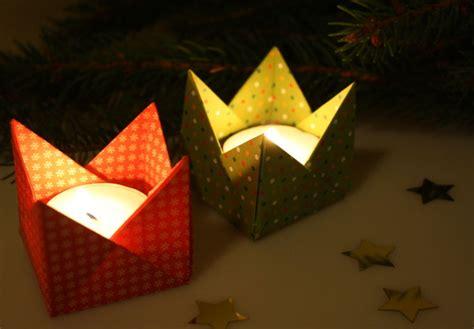 kerzenhalter in sternform falten teelichthalter aus papier falten my