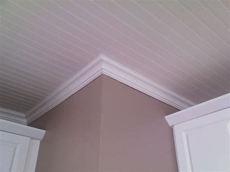 pictures of beadboard ceilings bead board ceiling with molding for our home
