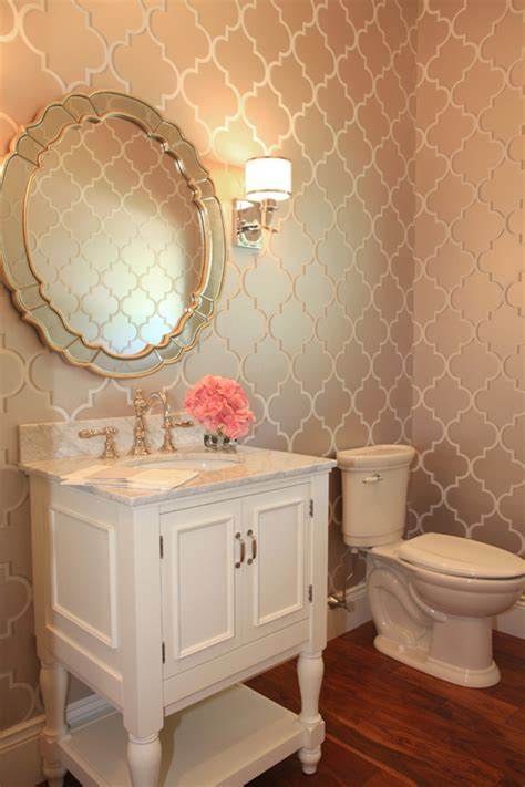 real bathroom gloryhole this glam bathroom by bria hammel interiors makes us