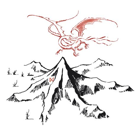 lonely mountain and smaug png by tomaco94 on deviantart