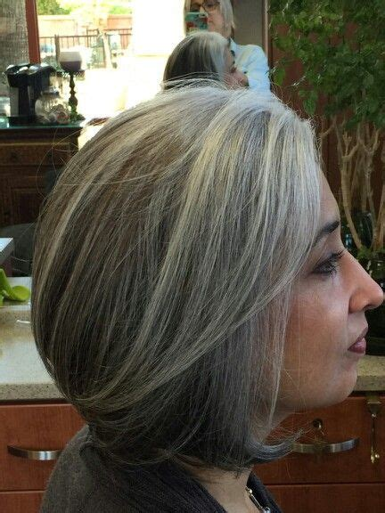 gray hair bob haircuts gray hair grey hair bob style haircut after months of