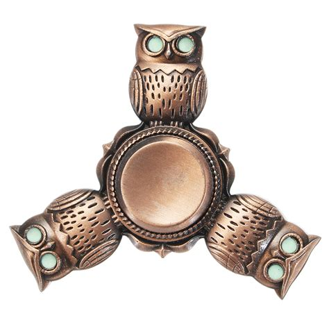 Tri Owl tri spinner owl shape rotating fidget spinner adhd autism reduce stress focus attention