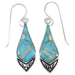 turquoise opal earrings turquoise and opal inlay sterling silver hook dangle