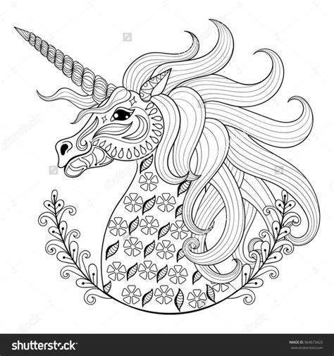 coloring book for adults anti stress coloring pages drawing unicorn for anti stress