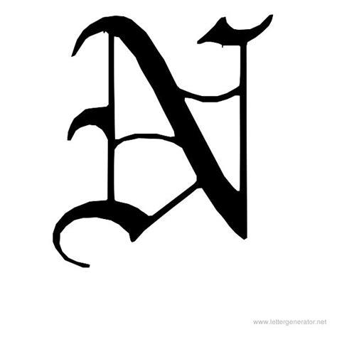 Superior Graffiti Font Generator #2: Printable-letter-englishgothic-n.jpg?v=2