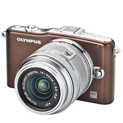 Olympus E Pm1 Lens 14 42mm 40 150mm Brown olympus e pm1 pen w 14 42mm 2r lens brown silver
