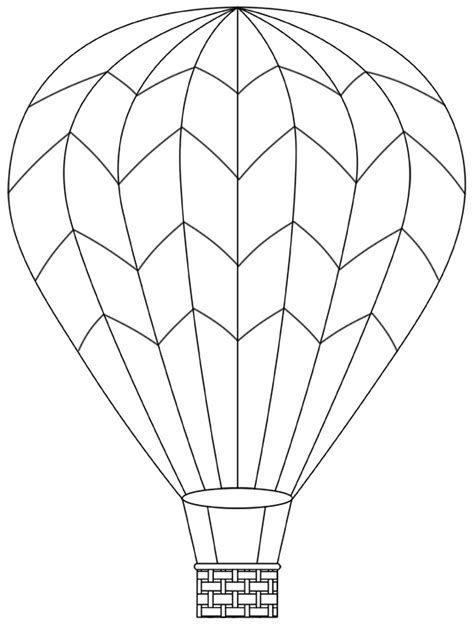 coloring page for hot air balloon basket with balloons coloring pages