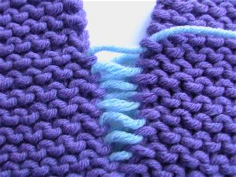 how to sew a flat seam in knitting knitty