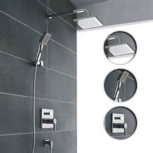 Shower And Bath Fixtures Wall Mount Contemporary Chrome Shower Faucet Set