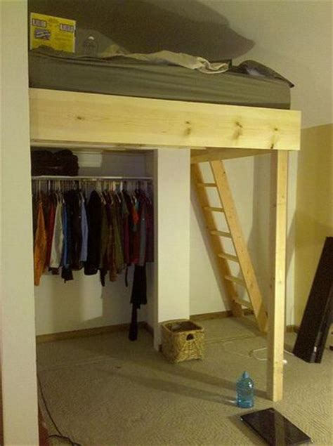 loft bed with closet adult loft bed over closet home decor inspiration pinterest