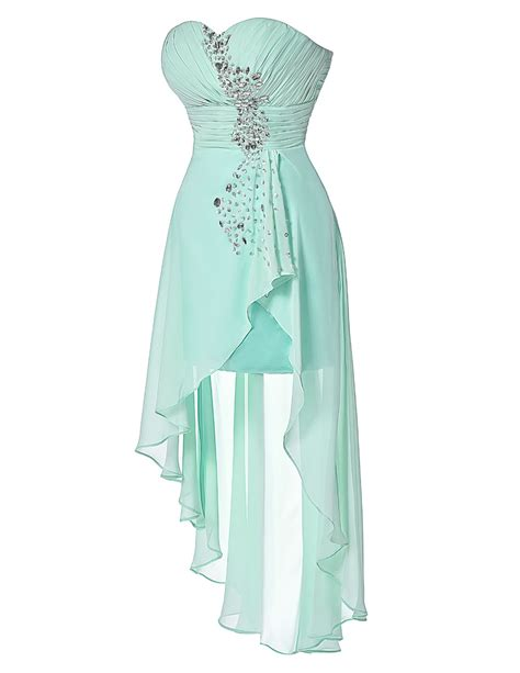 Turquoise Bridesmaid Dress by Turquoise Strapless Front Back Bridesmaid Dress