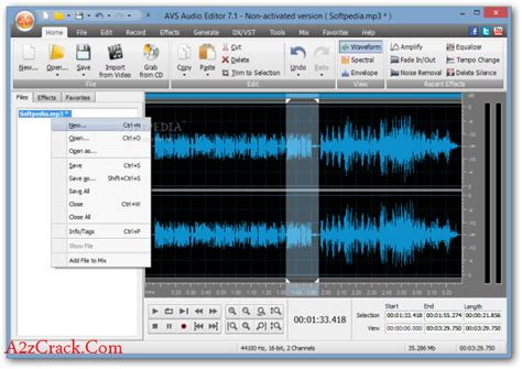 song editor avs audio editor 8 crack download latest version a2zcrack