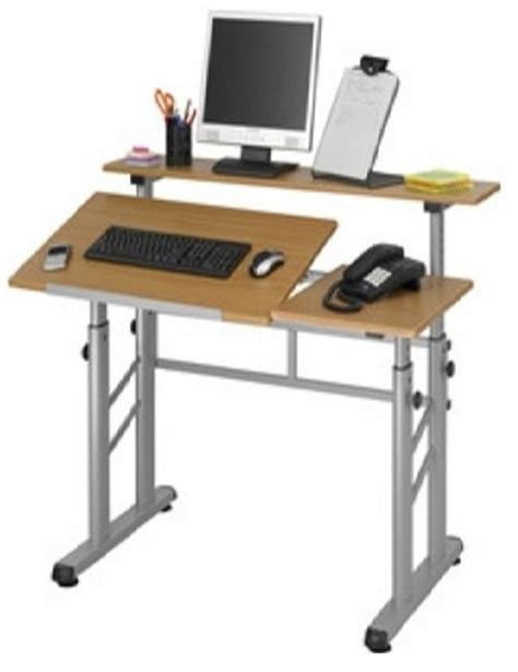 Height Adjustable Split Level Drafting Table The Adjustable Height Drafting Table