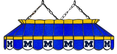 stained glass pool table light michigan wolverines 40 quot stained glass pool table light