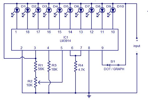 led temperature indicator circuit lm3914 lm3914 12v battery level indicator free electronic circuit diagrams