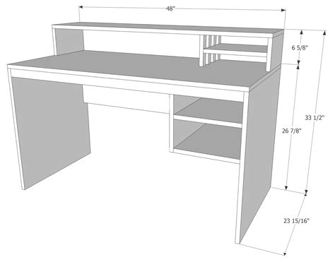 desk sizes computer desk from 1 sheet of plywood