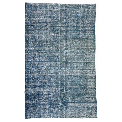 vintage blue rug blue vintage recoloured rug 184x292cm